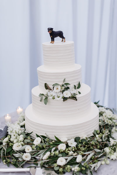 Rottweiler Wedding Cake Topper