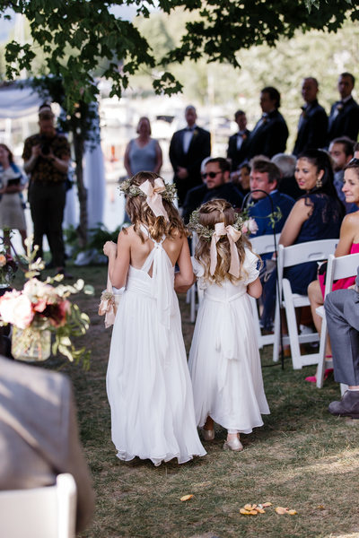 Flower Crowns for Flower Girls Summer Wedding
