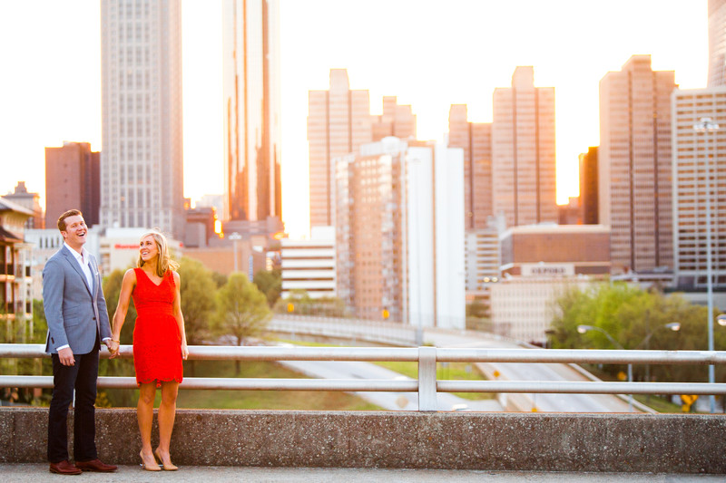 Jackson Street Bridge Atlanta Skyline Engagement