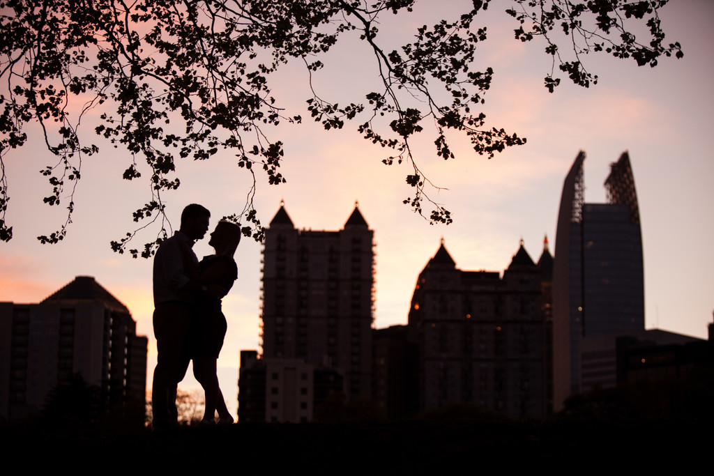 Atlanta Skyline Engagement Photos