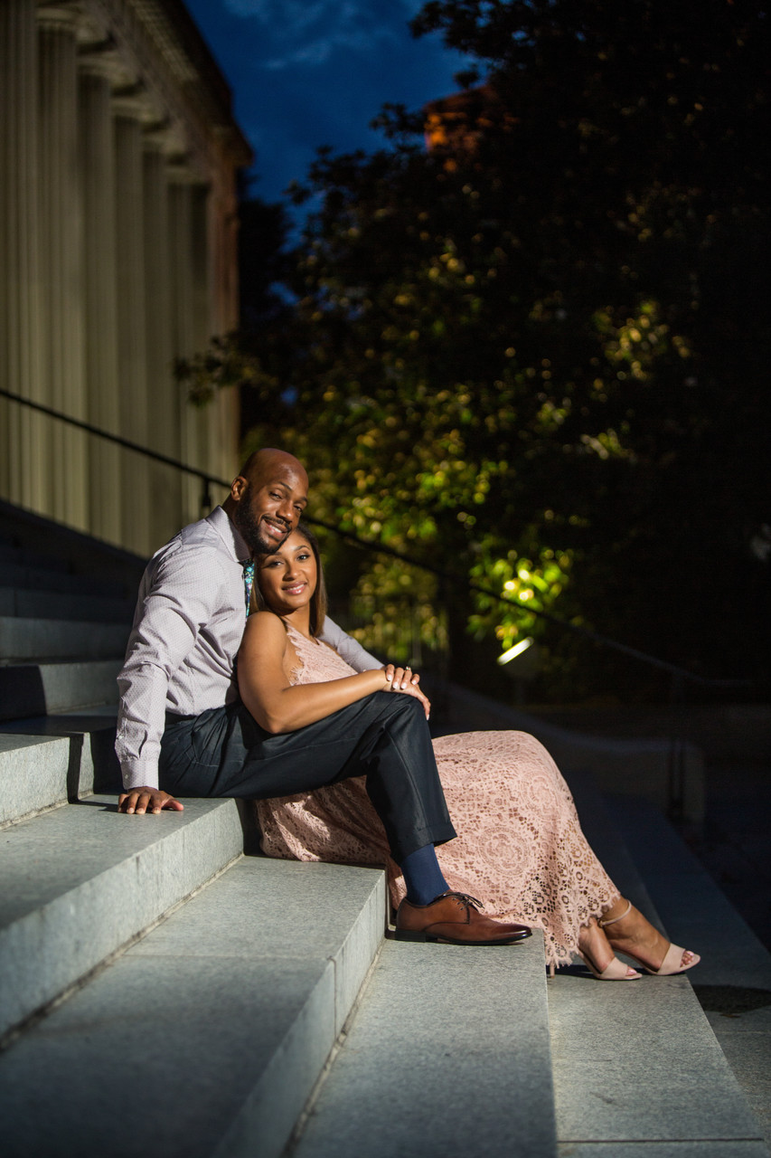 War Memorial Engagement Session Photos