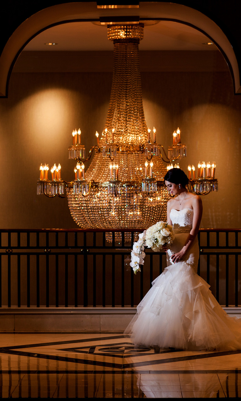Grand Hyatt Buckhead Chandelier Wedding Photos