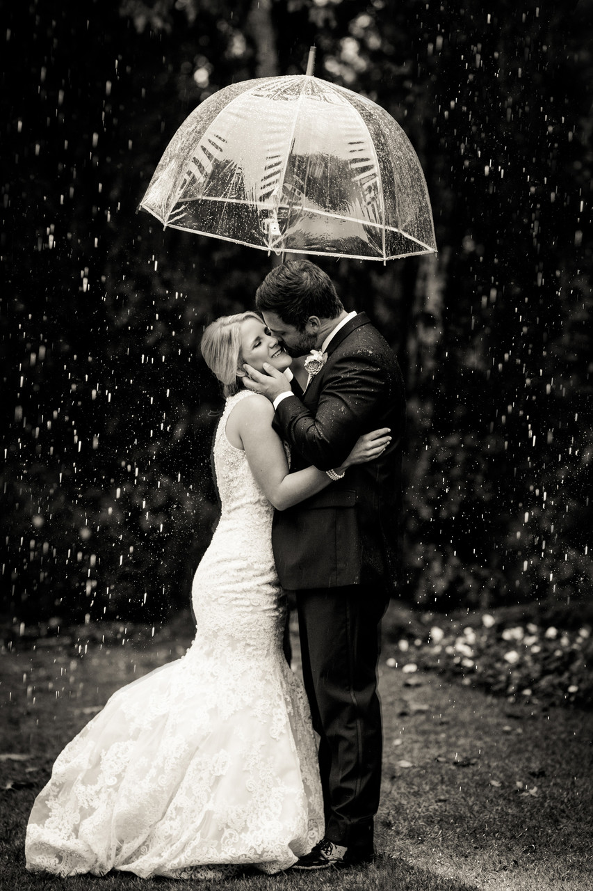 Outdoor Rainy Wedding Country Club South Atlanta