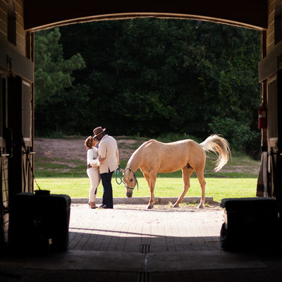 Foxhall Resort Horse Engagement Session