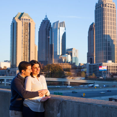 Midtown Atlanta Engagement Session Photography