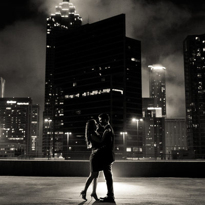 Atlanta Rooftop Pre-wedding photos