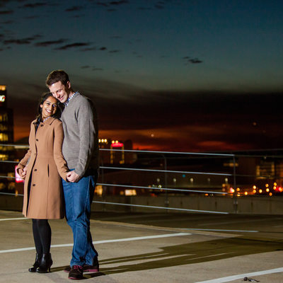 Rooftop Engagement Photographer Atlanta