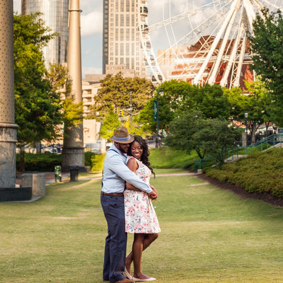 Atlanta Engagement Photography Centennial Olympic Park