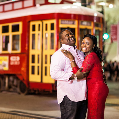 Night Engagement Photography New Orleans