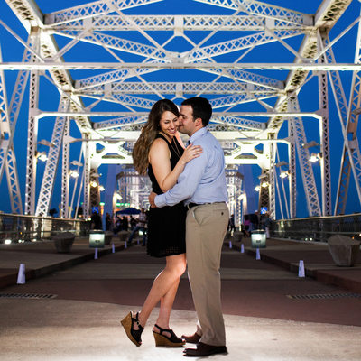 Night Engagement Nashville Photography