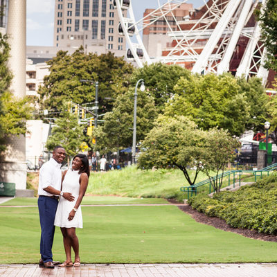 Park Engagement Photos Atlanta