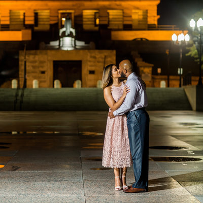 Nashville Engagement Photos Tennessee State Capitol