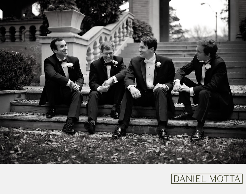 Dallas Groomsmen Photo at Highland Park Wedding