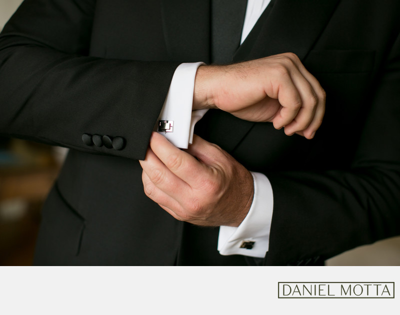 Groom Buttons Cuff-links at Four Seasons Hotel