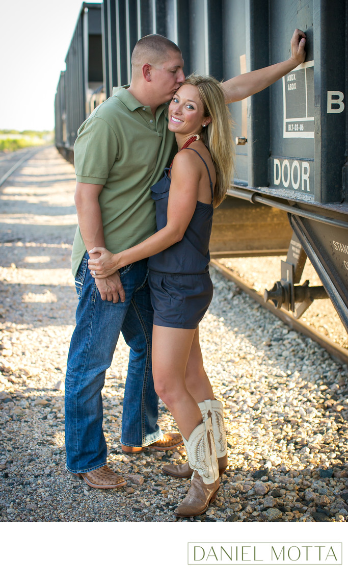 Engagement Photo of Couple in Frisco