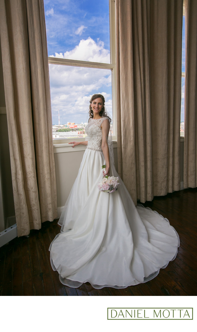 Bridal Portrait at the Room on Main Dallas