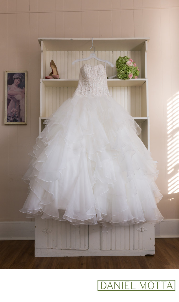 Photograph of Brides Wedding Dress in McKinney