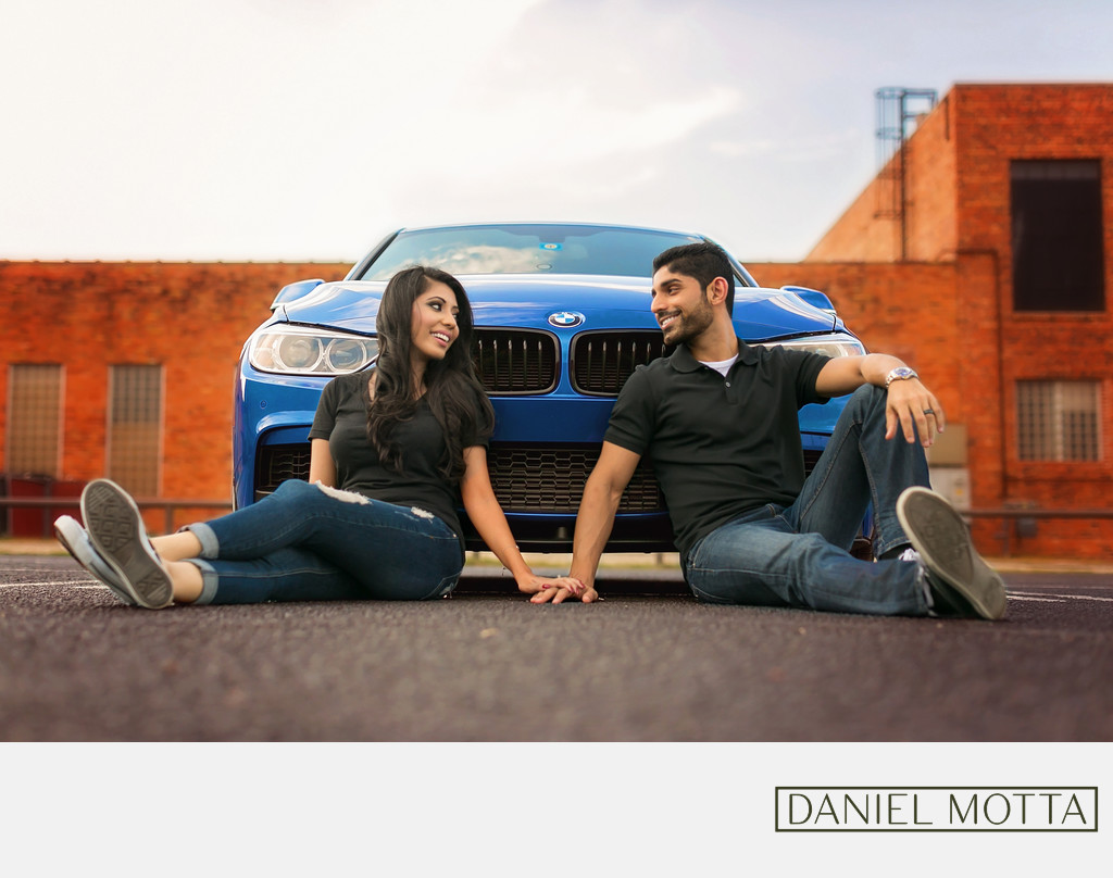Fun engagement photography in Deep Ellum, Dallas Texas