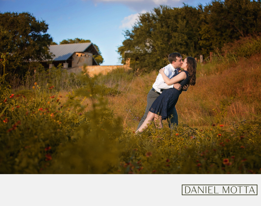 Couple Celebrate Engagement at Arbor Hills in Plano