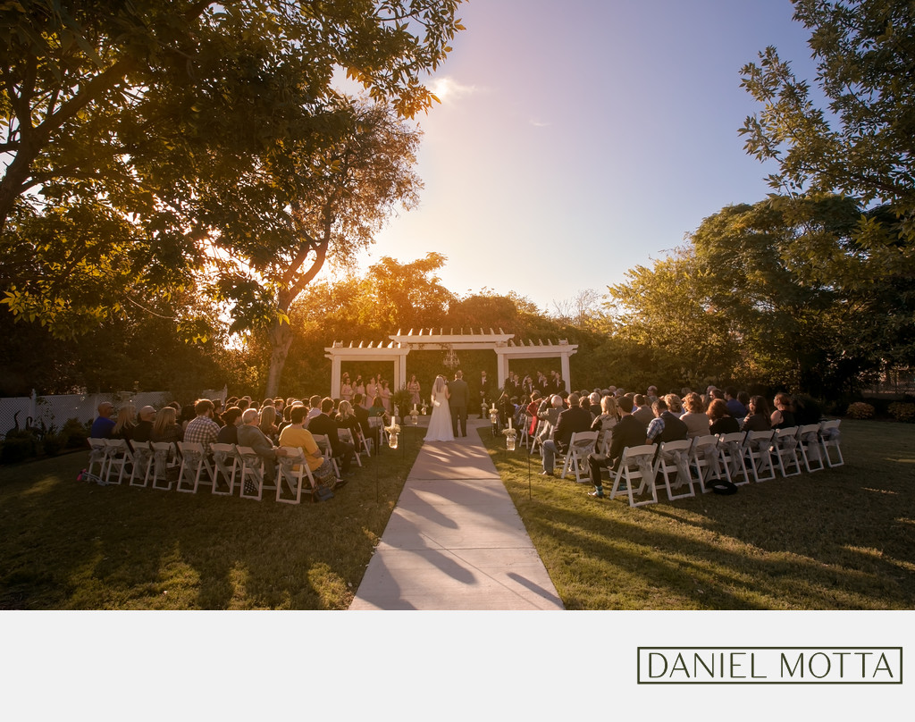 Sunset Photography at Bingham House Wedding in McKinney