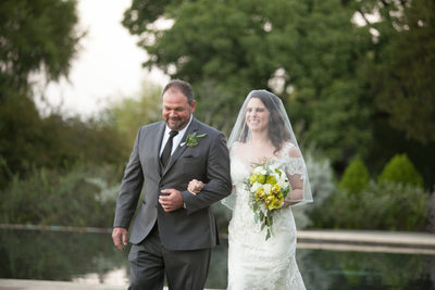 Walking Down the Aisle at Dallas Arboretum