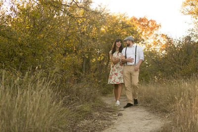 40's Themed Engagement Photo at Arbor Hills