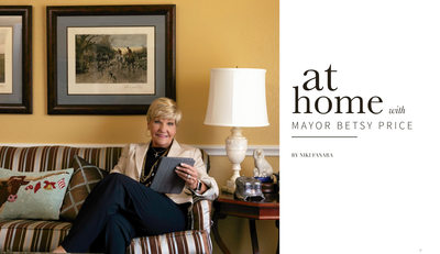 At Home with Fort Worth Mayor Betsy Price : By Ebby Halliday