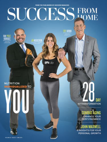 Editorial Portrait of Pudge Rodriguez, Jen Widerstrom & Troy Aikman