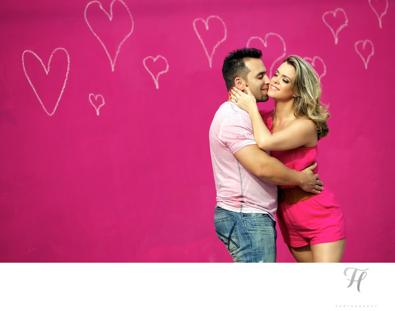 Miami Engagement Photos Graffiti walls
