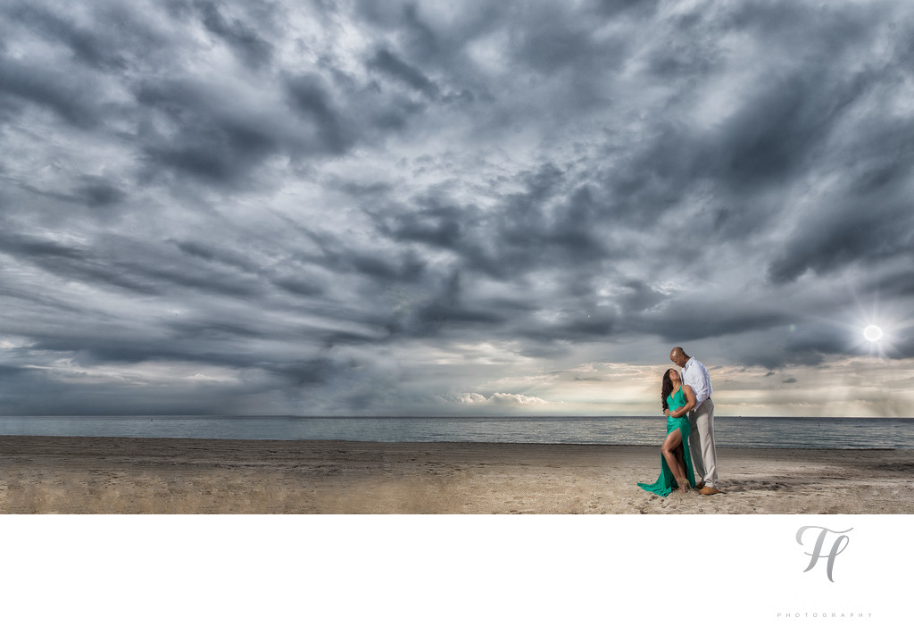 Engagement Photos on the Beach in Miami