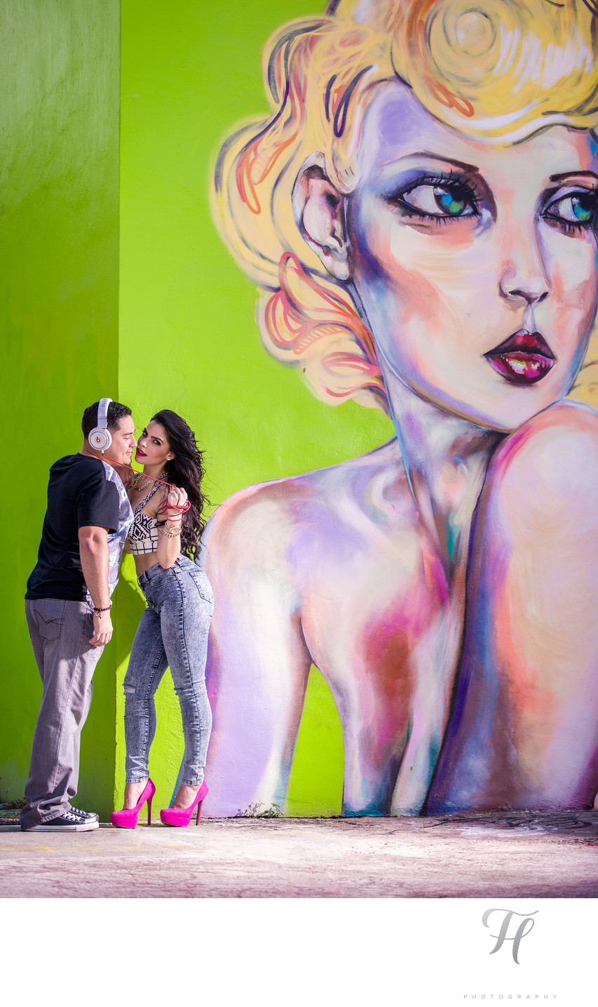 Wynwood Walls Engagement Pictures