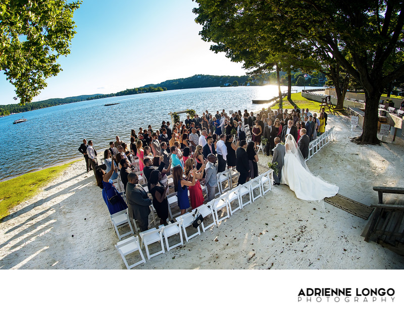 Lake Mohawk Country Club Wedding on the Beach