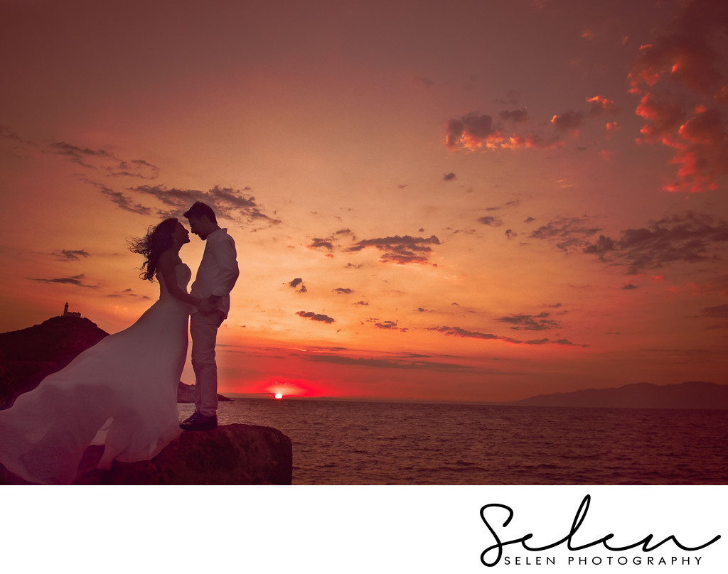 Sea side sunset wedding, sahil dugunu