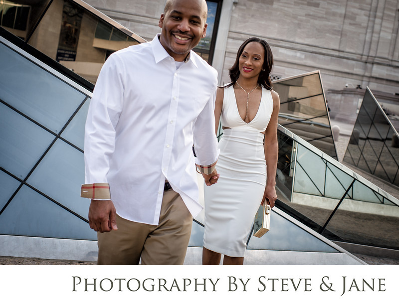 Magazine style DC engagement photographs