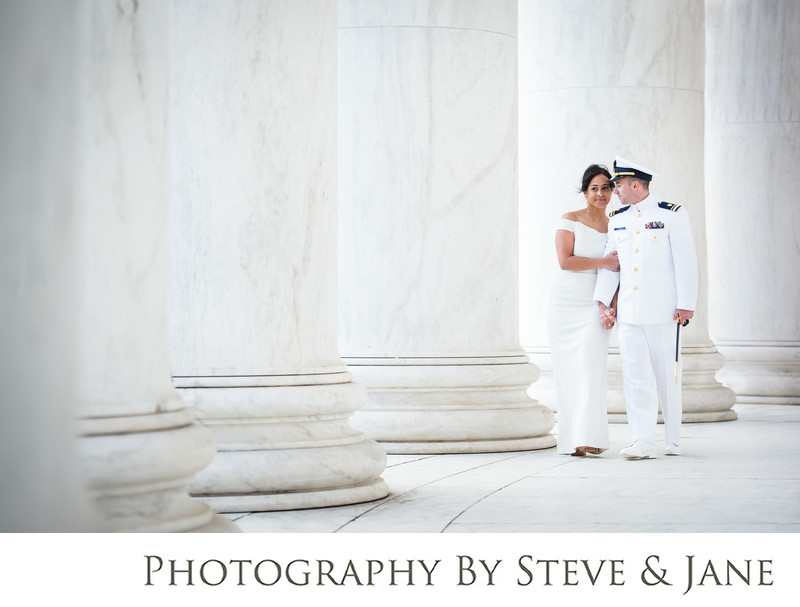 Classic Jefferson Memorial Wedding And Elopement