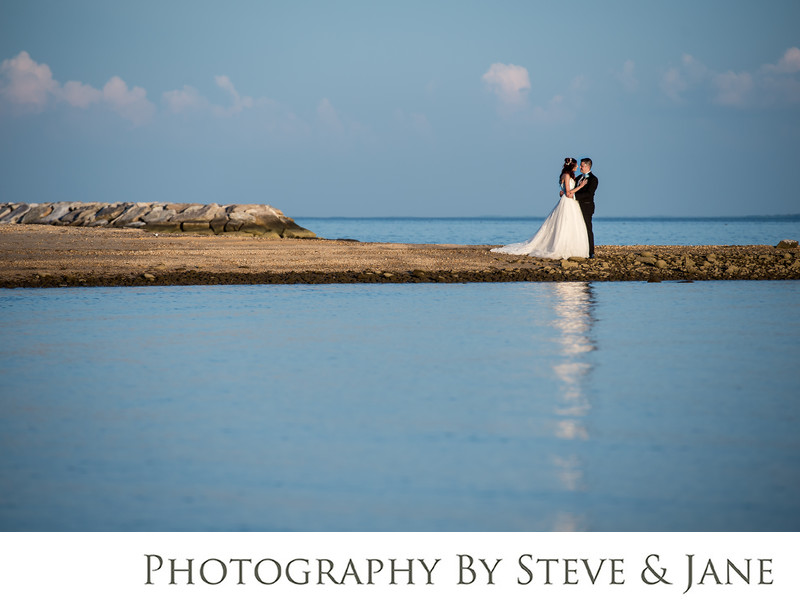 Potomac River Bride and Groom