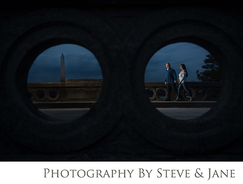 Washington Monument Nighttime Engagement Session