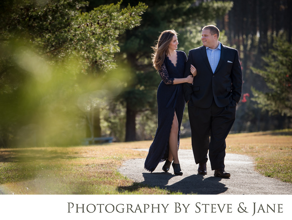 meadowlark gardens engagement session