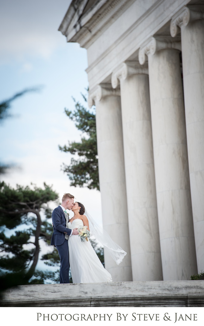 jefferson memorial wedding photography