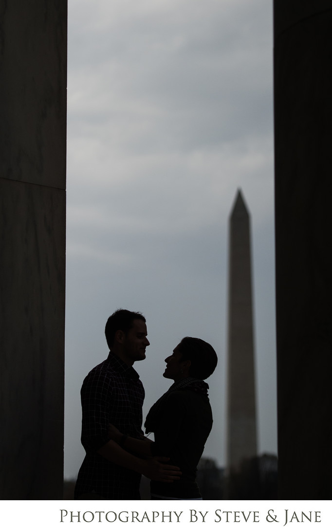 Washington Monument Engagement Portraits