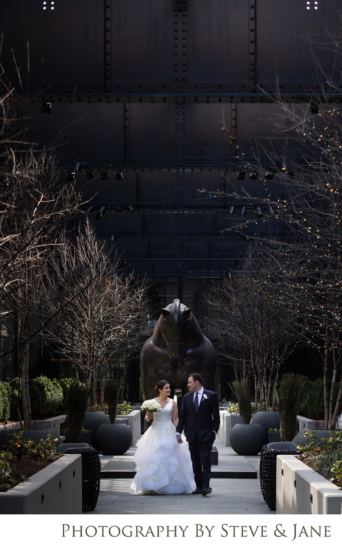 Wedding in the Sagamore Pendry Courtyard Baltimore MD