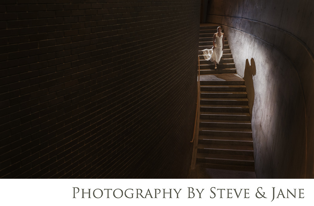 Arena Stage Stairs Bridal Portrait