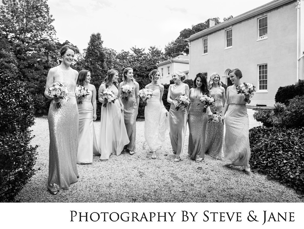 Tudor House Wedding Party Portraits