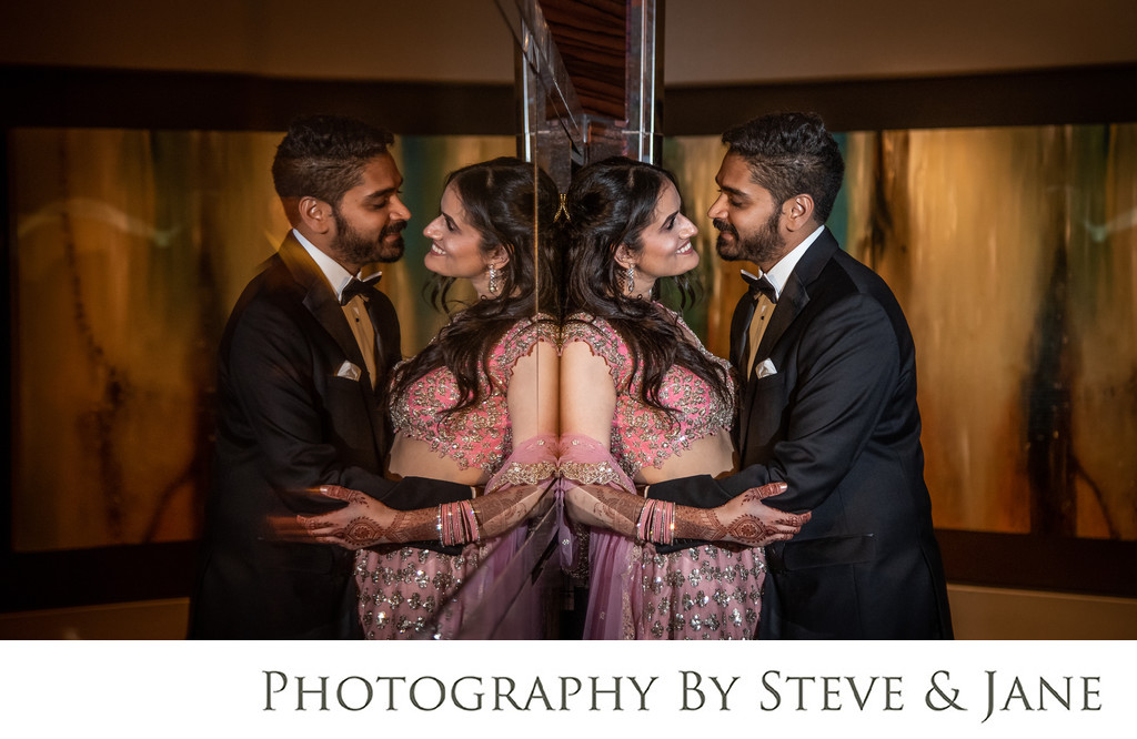 South Asian Engagement Party Portraits