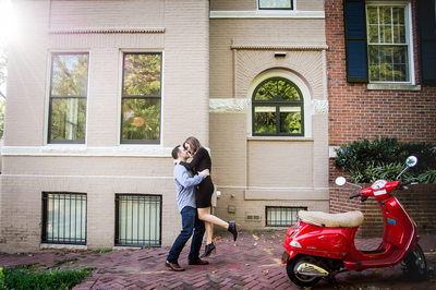 Quaint Georgetown Engagement Session