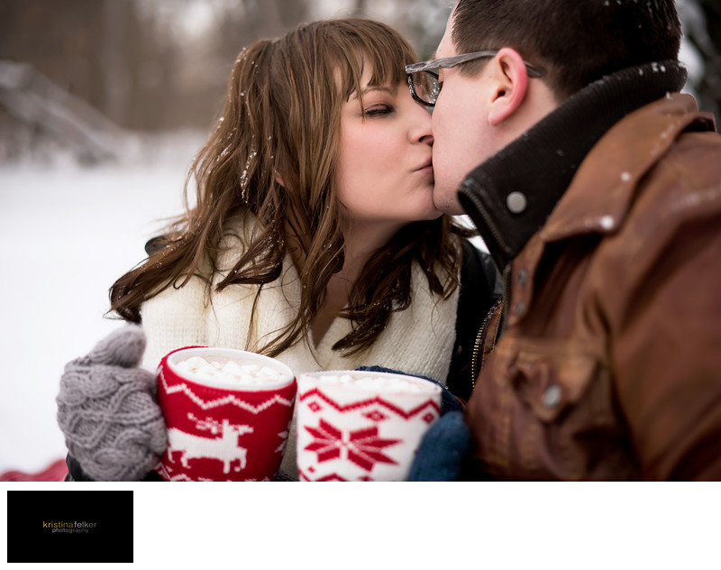 Winter Engagement Photography Edmonton