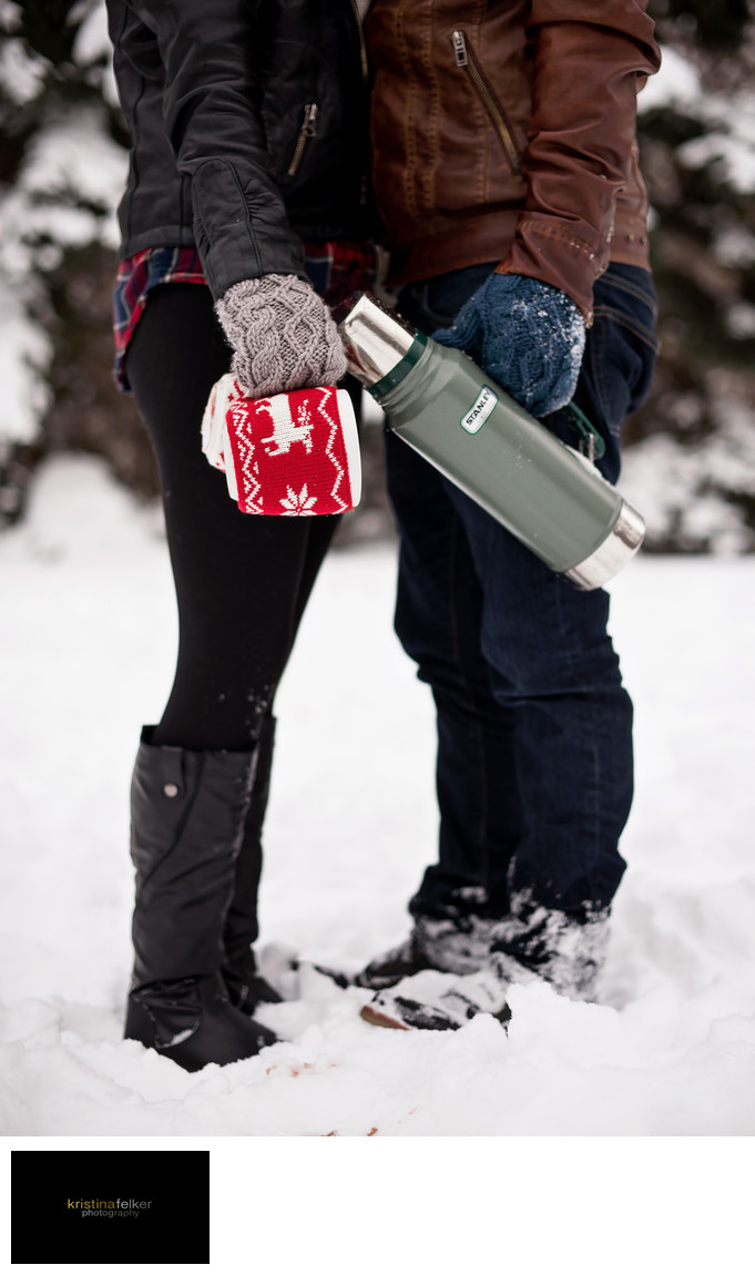 Winter Engagement Sessions Edmonton