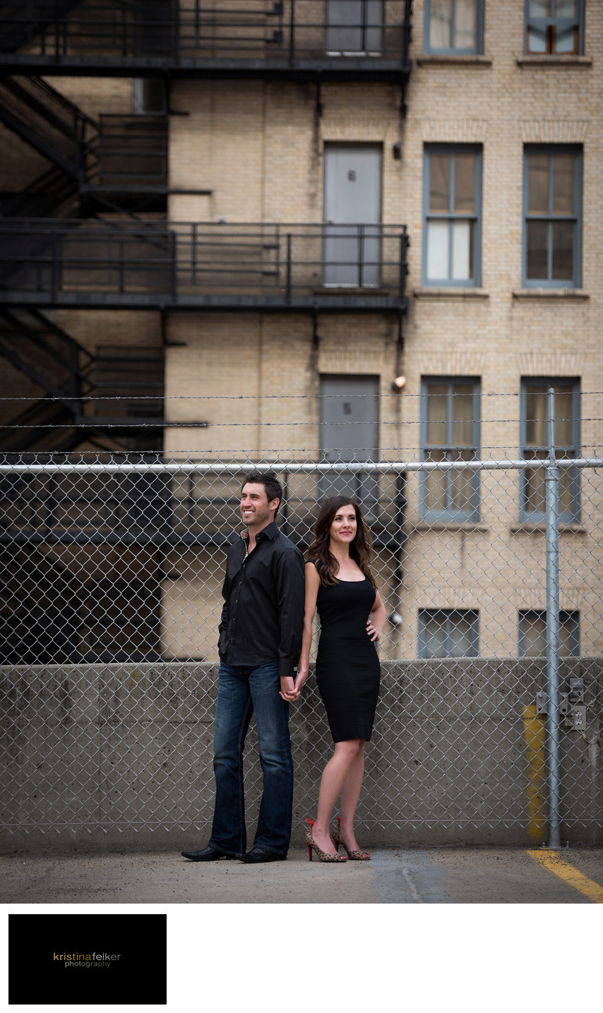 Edmonton Downtown Engagement Photography