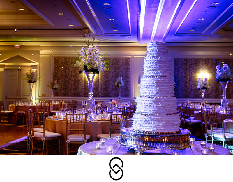Ritz Carlton wedding reception at Tyson's Corner