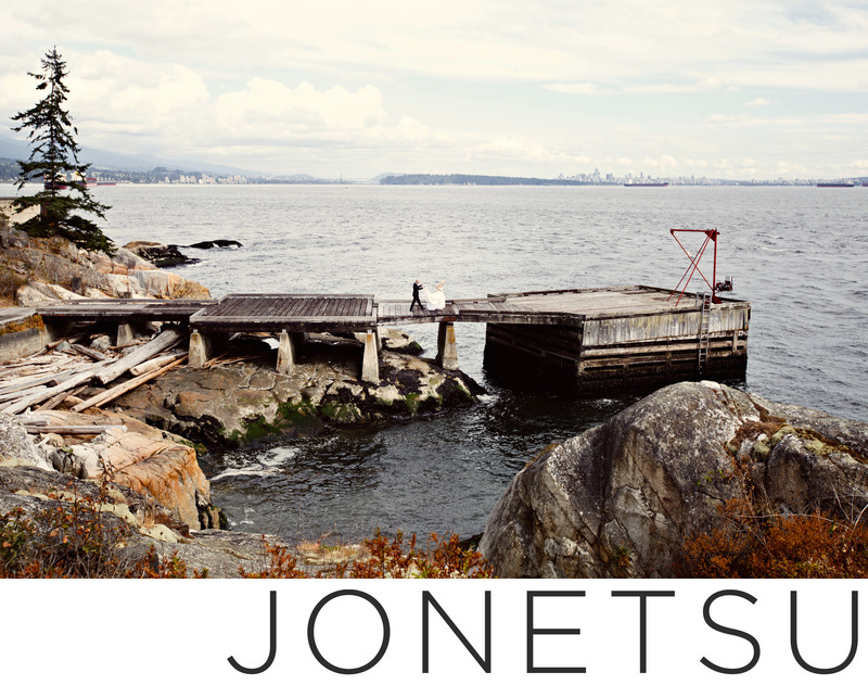 Lighthouse Park wedding portraits in west vancouver